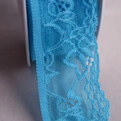 Dentelle élastique 47 mm turquoise