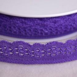 Dentelle élastique 25 mm violet