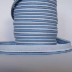 Double passepoil bicolore bleu clair