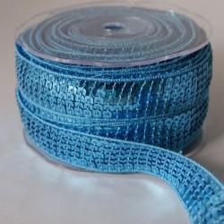 Galon à sequins bleu
