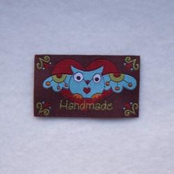 """Étiquette """"handmade"""" chouette"""