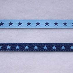 Ruban petites étoiles bleu/marine