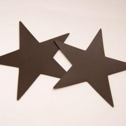 Motif étoile imitation cuir chocolat