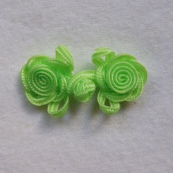 Brandebourg fleur vert anis
