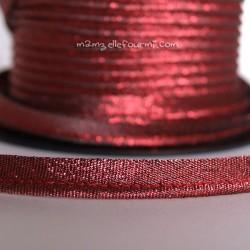 Passepoil scintillant rouge