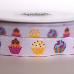 Ruban cupcakes blanc