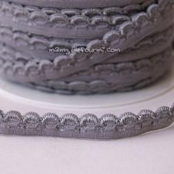 Élastique fantaisie gris