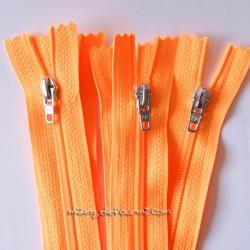 Fermeture Éclair non séparable orange fluo