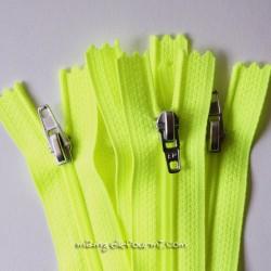 Fermeture Éclair non séparable jaune fluo