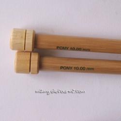 Paire d'aiguilles bambou n° 10