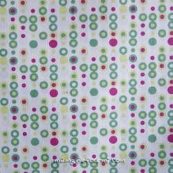 Coton mini-pastilles vert