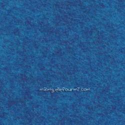 Feutrine bleu tropical
