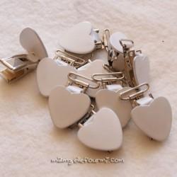 Attache clip bretelle cœur