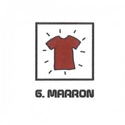 Teinture textile marron
