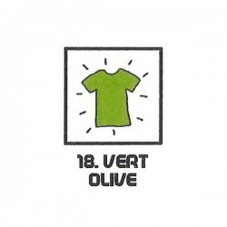 Teinture textile vert olive