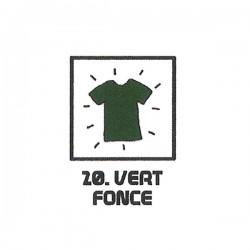 Teinture textile vert foncé