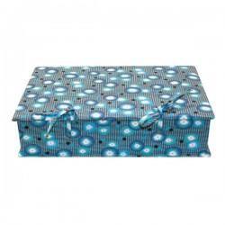 Boîte à couture coquelicot bleu