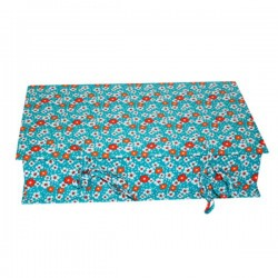 Boîte à couture fleur des iles turquoise