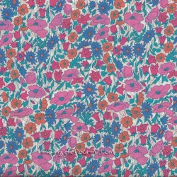 Liberty Poppy Daisy rose-bleu