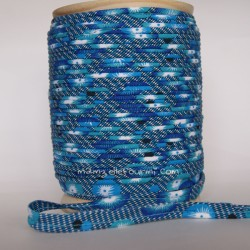 Passepoil coquelicot bleu
