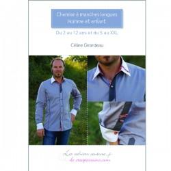 Chemise à manches longues homme et enfant