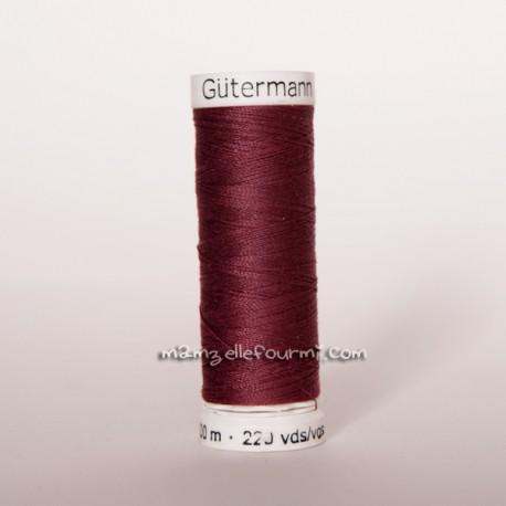 Fil Gütermann 200m lie-de-vin