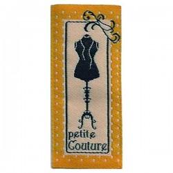 """Étiquette verticale """"petite couture"""" vintage"""