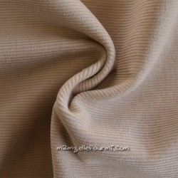 Velours milleraies beige