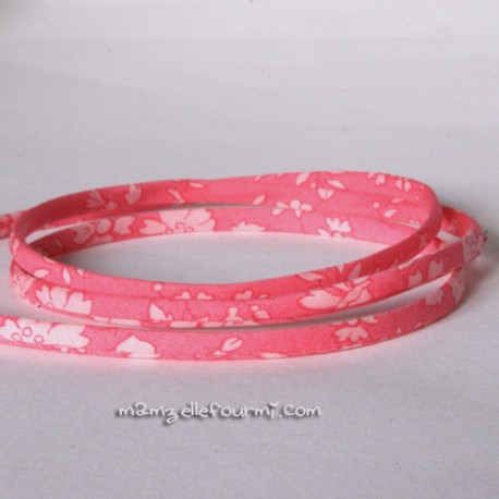 Cordon Liberty Capel rose bonbon