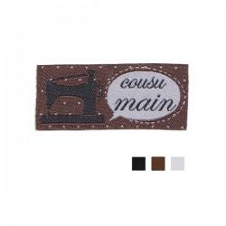 """Étiquette """"cousu main"""" chocolat"""