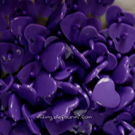 Pressions KAM cœur violet