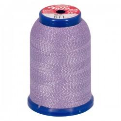 Fil mousse lamé violet-argent