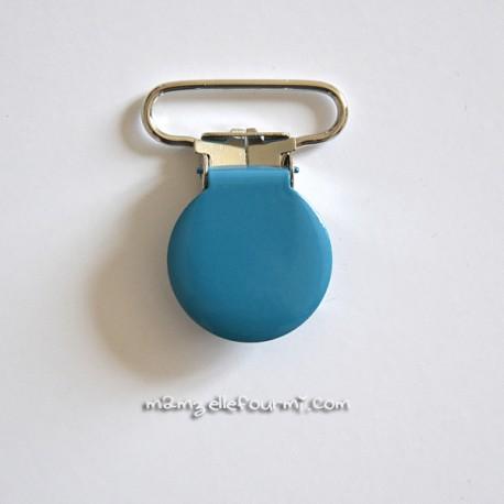 Attache clip bretelle turquoise