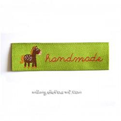"Étiquette ""handmade"" ponylove vert"