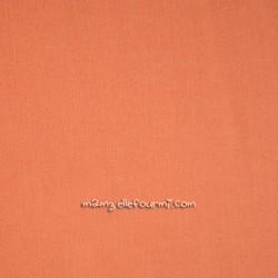 Popeline unie Frou-Frou abricot