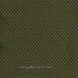 Velours pois vert/olive