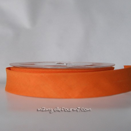 Biais uni orange