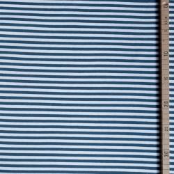 Bord-côte bio rayé blanc/bleu-gris