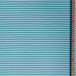 Jersey bio stretch rayé blanc/menthe