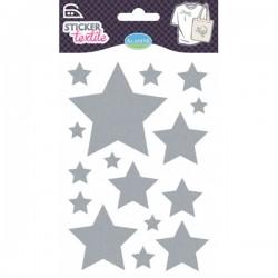 Sticker textile étoiles glitter