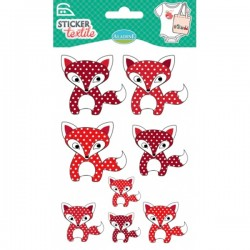 Sticker textile renards