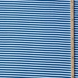 Bord-côte bio rayé blanc/bleu foncé