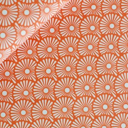 Coton blowballs orange rouillé
