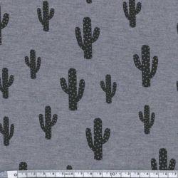 Jersey viscose Cactus gris chiné