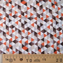 Coton trimix taupe-orange