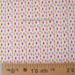 Coton plumi rose-anis