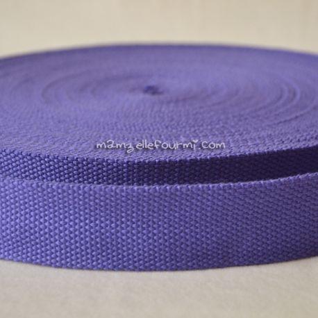 Sangle coton mélangé violette