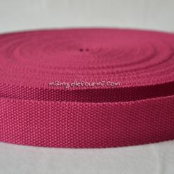 Sangle coton mélangé framboise 32mm