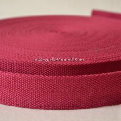 Sangle coton mélangé cerise 32mm