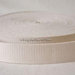 Sangle coton mélangé crème 32mm